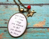 You Know Those Things... Inspirational Glass Pendant Charm Necklace by OutonaLimbStudio on Etsy