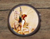 Butterfly FAIRY tale Tie tack or Cuff links or Ring or Pendant or Brooch