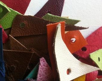 Leather scraps - 100 pieces