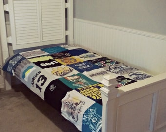 T-Shirt Quilt BLANKET For Your Bed Twin, Queen, King