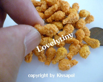 100 pcs.Wholesale Dollhouse miniature Fried Chicken, Free Shipping!
