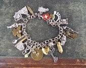 Nightingale - Nurse Tribute Monogrammed Charm Bracelet