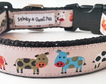 Holy Cow - Dog Collar / Handmade / Adjustable / Pet Accessories / Pet Lover / Gift Idea