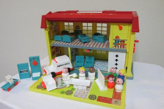 little people fisher price krankenhaus komplette 1976. Black Bedroom Furniture Sets. Home Design Ideas