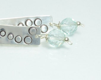 Praise Earrings in Sterling Silver and Blue Quartz