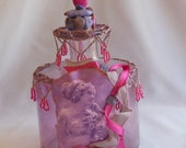 Amethyst Altered Bottle, Great Bath or Bedroom Decor, Entirely Useful or Just as Display