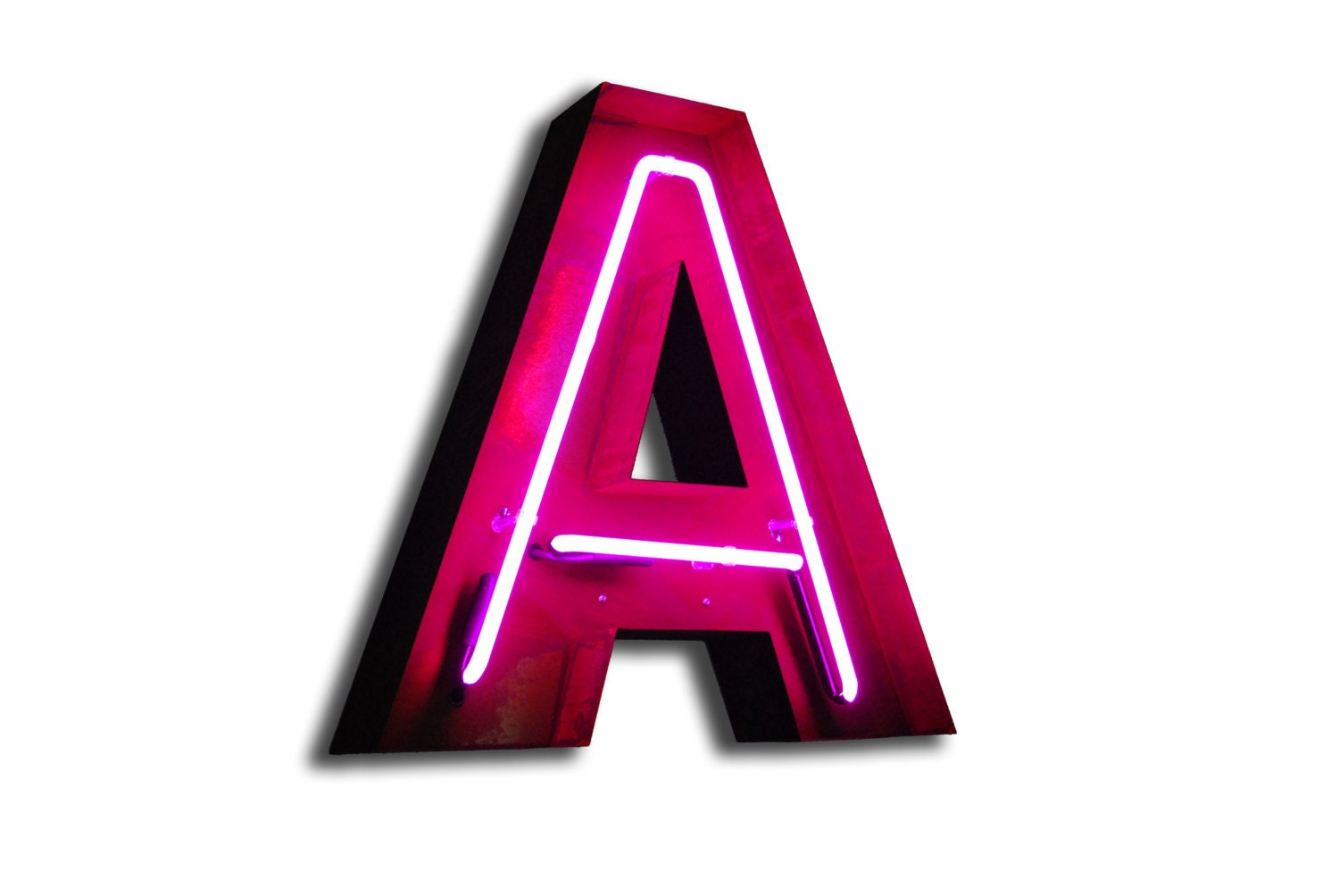 Sale vintage marquee lights neon letter a pink for Neon letter lights