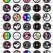 INSTANT DOWNLOAD...Girly Skulls.... 1.313 inch Circle Images Collage Sheet for 1 Inch Buttons ...Buy 3 get 1