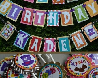 Candy Factory Birthday Party Decorations Fully Assembled