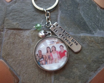 Special People Keychain - Family Picture - Children - Grandchild - BFF - Couple - or In Remembrance - Custom Photo - Tree of Life