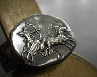 Silver Statement Ring Apollo Mythology Jewelry