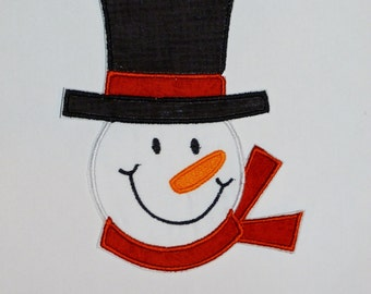 "Embroidered Iron On Applique  ""Frosty"""