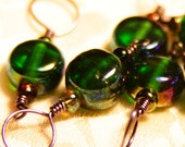 Green Glass Smooth Stitch Markers