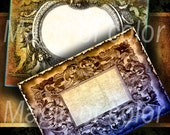 Baroque Frames - 8 Digital ACEO Images - Printable Digital Collage Sheet