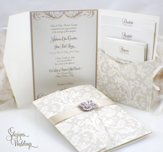 product crystal wedding luxury invite chosen brooch diamante collection stationery touches invitation