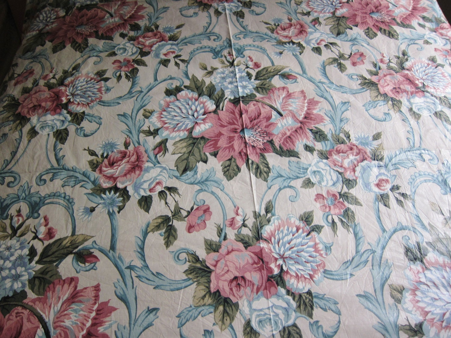 Floral chintz fabric 7 yards plus traditional classic floral for Chintz fabric
