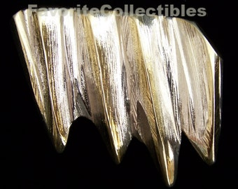 Sterling Silver Glacier Pin Brooch Massive OOAK Signed 42 Grams Unique Designer 2-Tone Amazing FavoriteCollectibles Glam