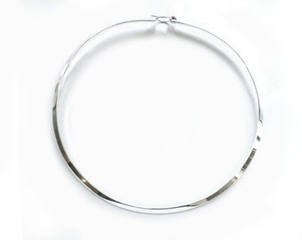 NEW Sterling Silver Choker, Necklet for Pendants or Charms, with Closure