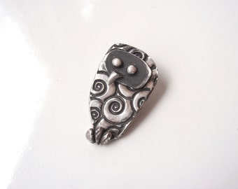 Unique Silver Owl Jewelry, Owl Pendant, Night Owl