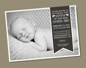 Side Ribbon - Baptism Invitation