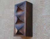 ON SALE!!! Copper Geometric Cut Light Sconce w/ Amber Mica Openings