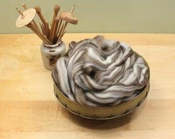 Finnish Wool - Humbug - Undyed Roving for Spinning or Felting (8oz)