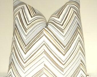Robert Allen, Blue Zig Zag Pillow, Chevron Pillow, Pillow Cover, Decorative Pillow, Throw Pillow, Sofa Pillow, Home Furnishing, Home Decor