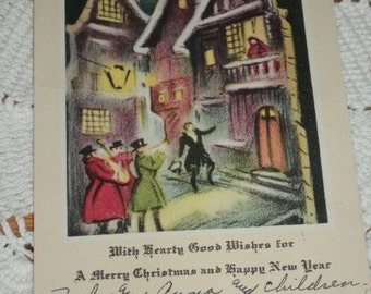 1920s, Antique Christmas Card, Used