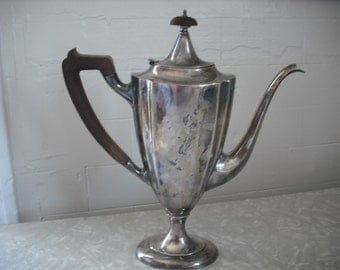 Vintage Teapot 1847 Rogers Bros. Silver plate Art Deco Coffee Server