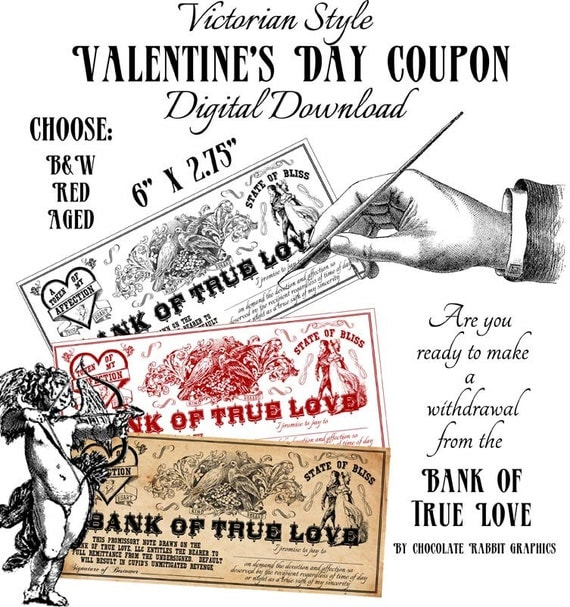 Victorian Love Coupons