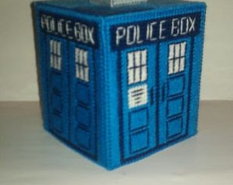Handmade Dr Who Tardis Tissue Box Cover