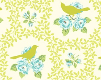 Free Spirit Heather Bailey - Garden District - Mockingbird - Chartreuse - SAHB004 - BTY