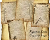 Lined Egyptian Dreams Digital 5 Page Set - Book of Shadows, Grimoire, Scrapbook, Spells