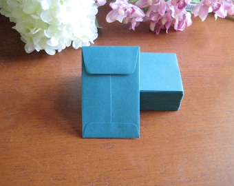 "100 MINI ENVELOPES - PEACOCK -  Teal 3.75"" x 2.25"""