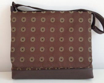 SALE - Laptop/Briefcase with Espresso Dots
