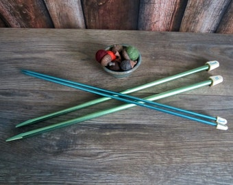 Two sets of vintage knitting needles
