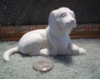 Beagle type Dog  in Ceramic Bisque Ready to Be Painted Beagles