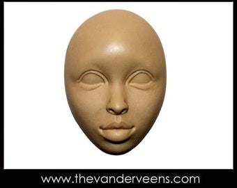 Mold No.133 (Face-  African looking with open eyes) by Veronica Jeong