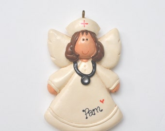 Personalized Nurse Angel Christmas Ornament/Nurse/medical/hospital