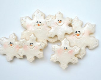 Personalized Snowflake Family of 6 Christmas Ornament
