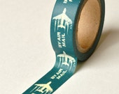 Washi Tape - 15mm - Airmail on French Blue - Deco Paper Tape No. 764