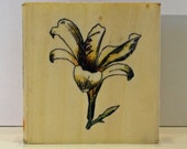 Botanical Lily Flower Rubber Stamp