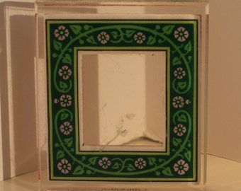 Medieval Floral Design Frame Acrylic Mounted Rubber Stamp