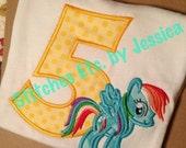 Rainbow Dash Birthday Shirt