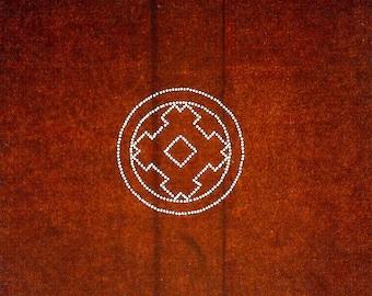 Vintage  Japanese Stencil Igeta Symbol Family Crest  Kamon (96)