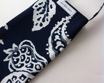 plastic bag holder // grocery bag holder // dispenser navy and white