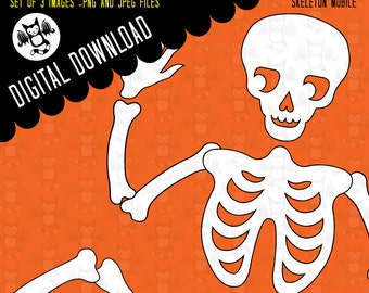 Skeleton Mobile- Instant Digital Download for your personal use