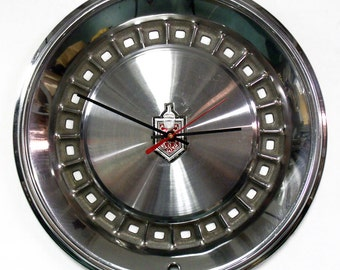 1981 - 1985 Chevy Monte Carlo Wall Clock - Chevrolet Hubcap Clock - 1982 1983 1984 - Hub Cap Clock - 1980's Car Decor - Automotive Clock