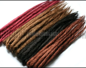 Custom made natural double ended dread extensions set of 40 - synthetic dreadlocks