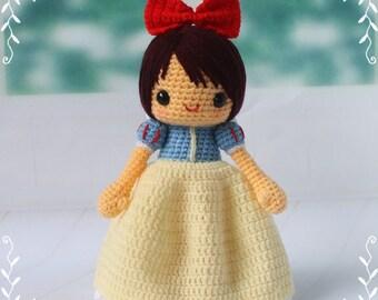 PDF Crochet Pattern - Snow White